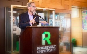 Rick Yancey - Award Winning Author at a Roosevelt University event