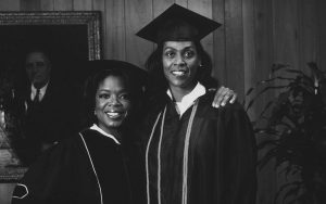 Oprah Winfrey and her employee and Roosevelt alum Beverly Lockhart