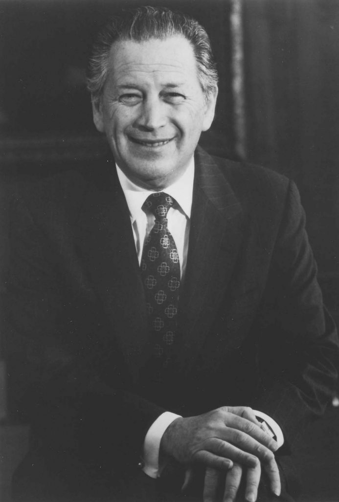 Theodore L. Gross serves as fourth president from 1988 to 2002.